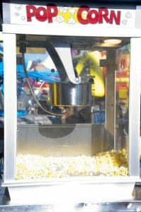 Popcorn machine rental.