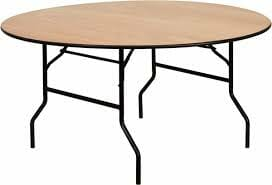 Round party table rental.