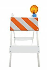 barricade with light bar