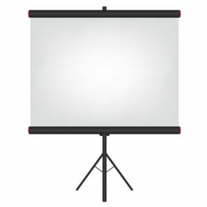 Portable screen rental in audio visual.
